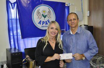 PORTO VELHO: Apae é beneficiada com doação de parte de salário do prefeito